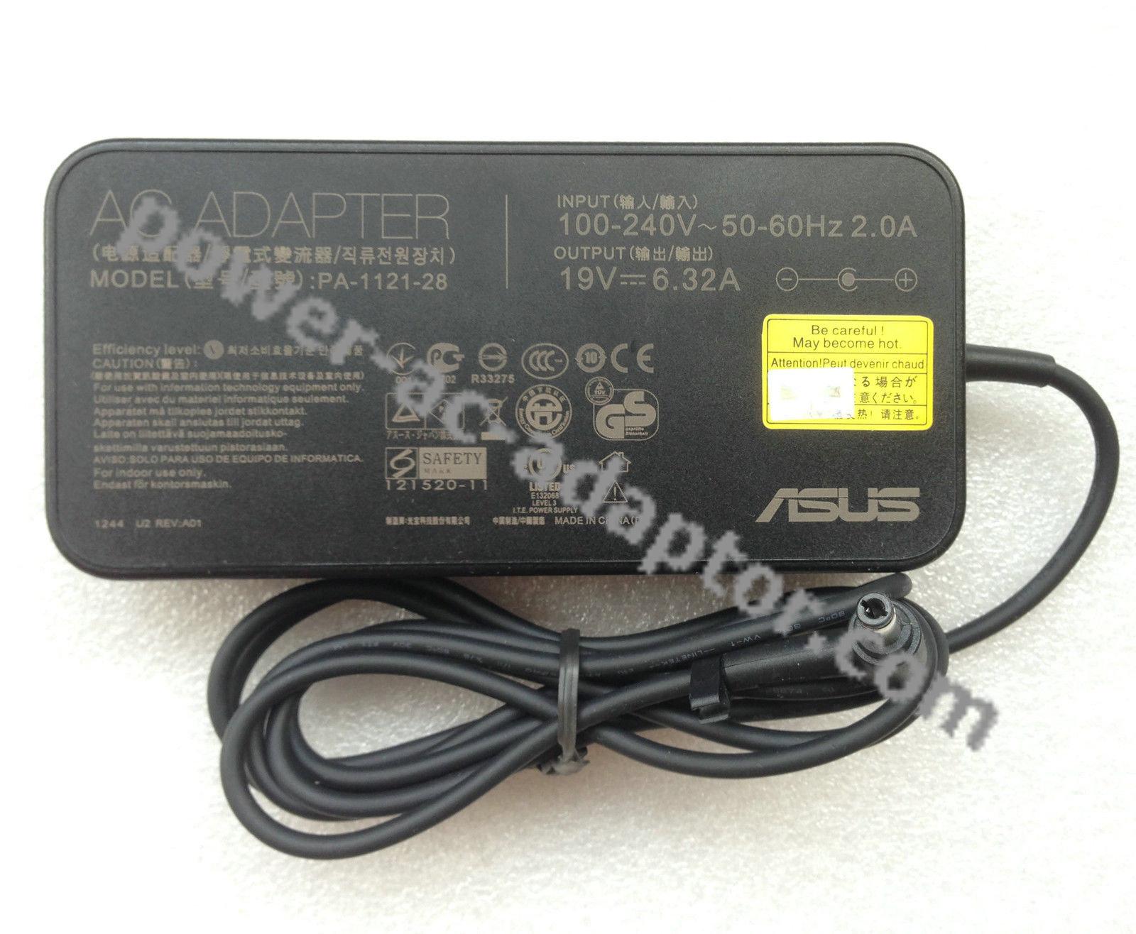 Original OEM ASUS 120W 19V 6.32 AC Adapter Charger ADP-120ZB BB PA-1121-28