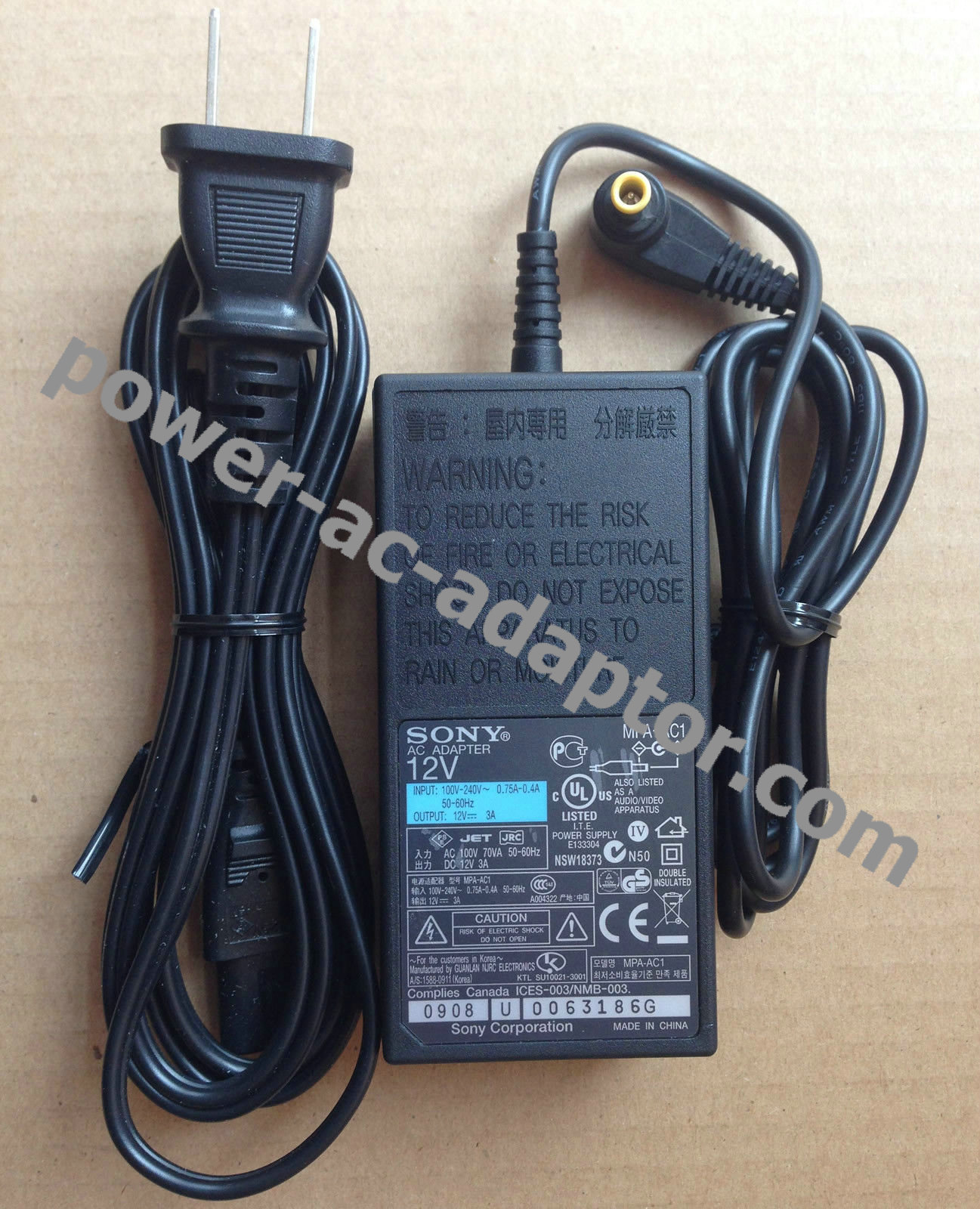 12V AC//DC Adapter For Sony MPA-AC1 MPAAC1 DRX-530UL EVI-D70 Camera Power Charger