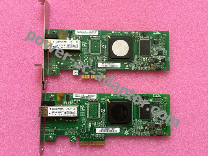 Lot of 6 HP QLogic QLE2460 4GB PCIe Fibre Channel HBA 407620-001 AE311-60001